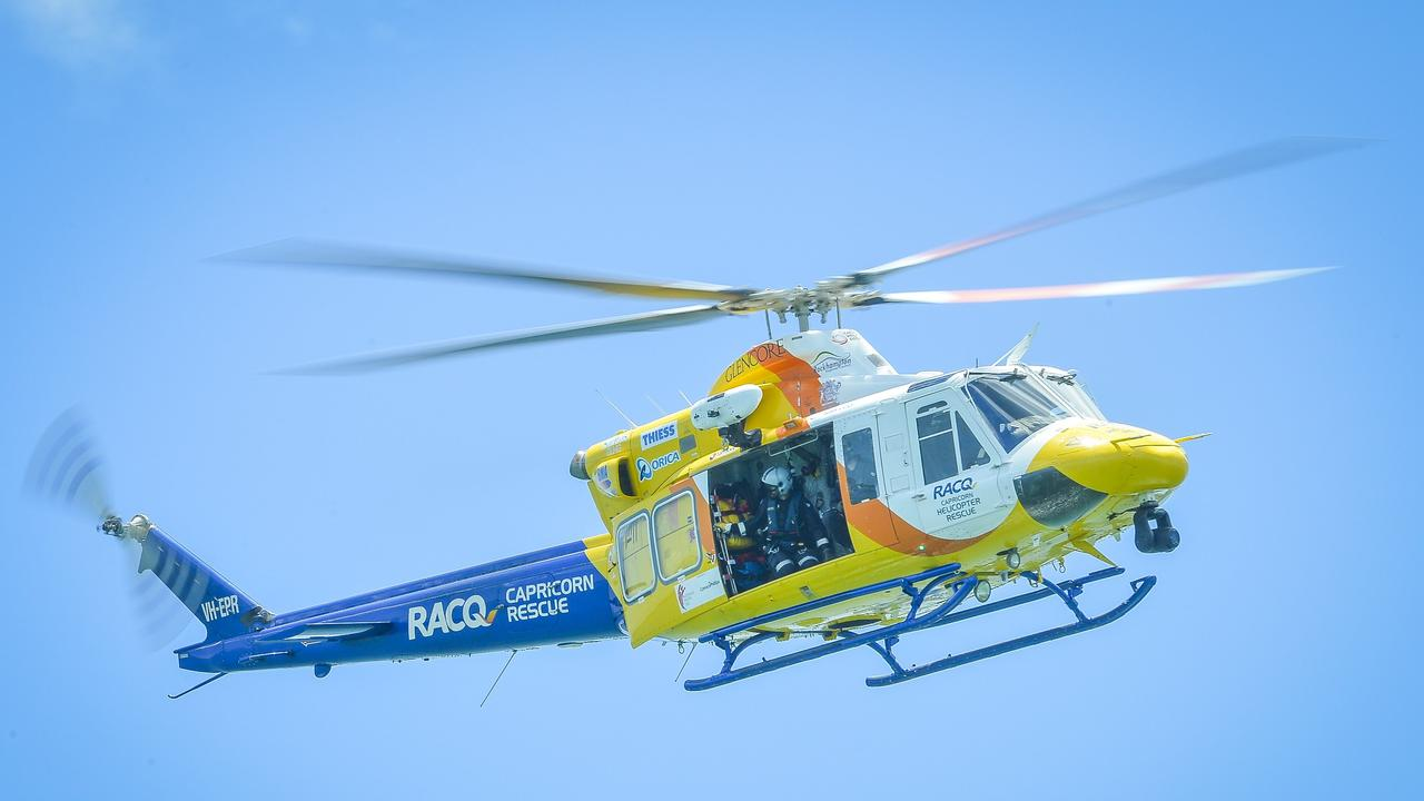 A MAN was taken to hospital after falling through an open hatch on a Cargo Ship yesterday afternoon.