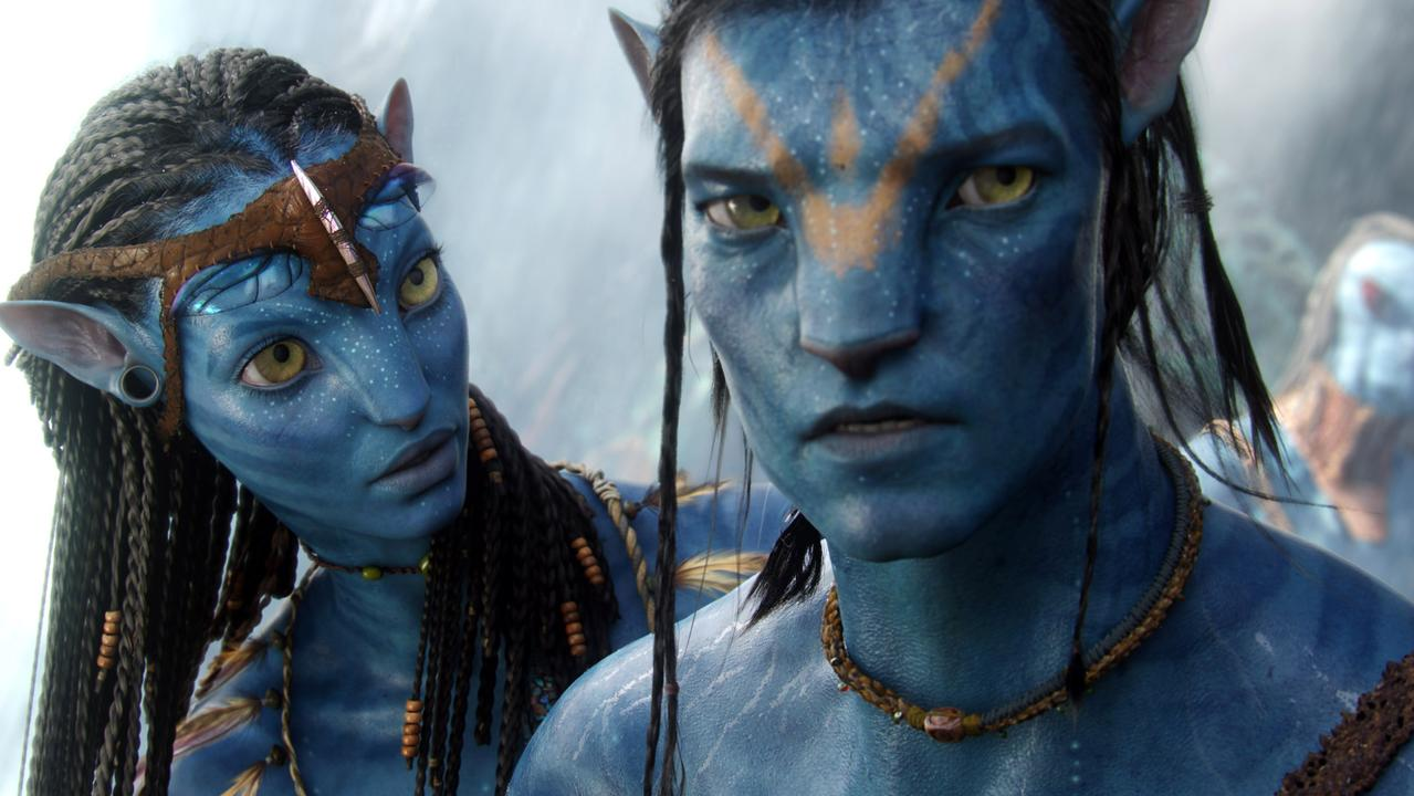 Neytiri and Jake in a scene from the 2010 film Avatar.