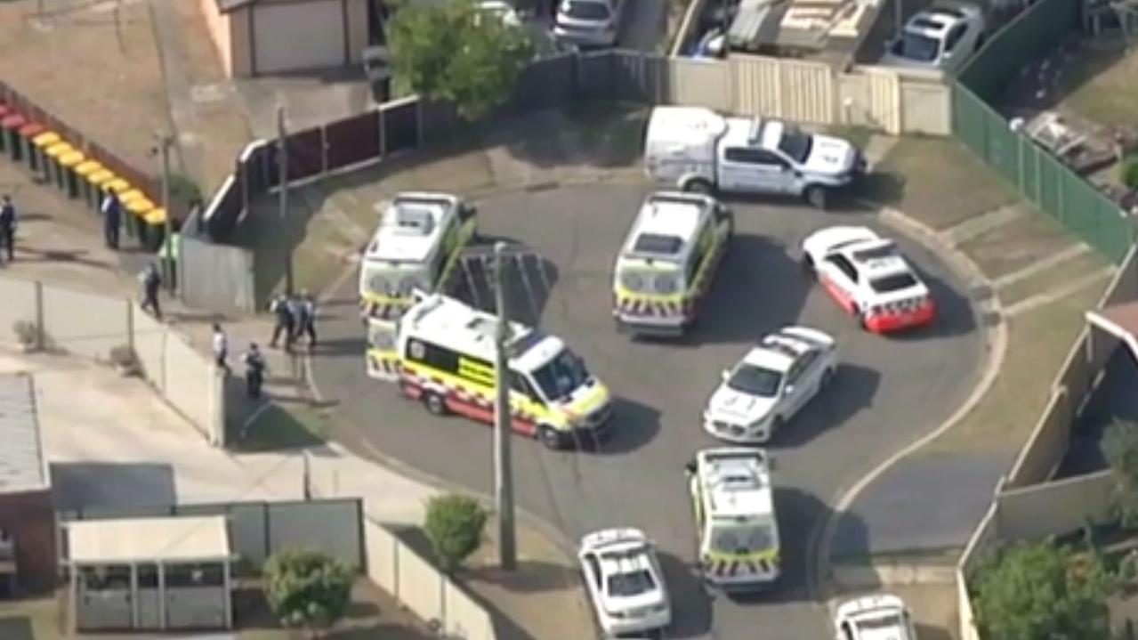 One person is dead and another is fighting for their life following an axe attack in Sydney's southwest. Source: Channel 7
