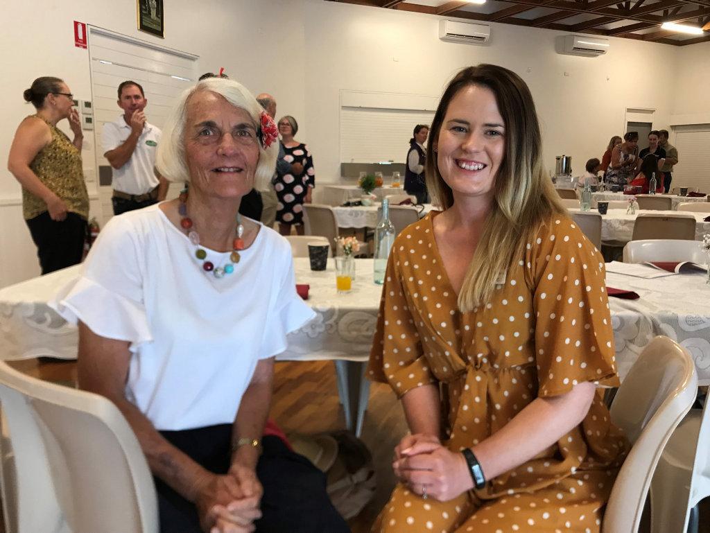 Liz Caffery with Kirstie Schumacher (right).