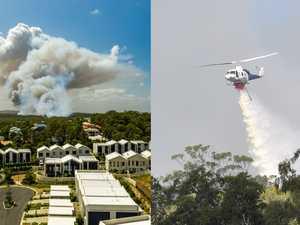 Terror as raging bush fire 'jumps' road