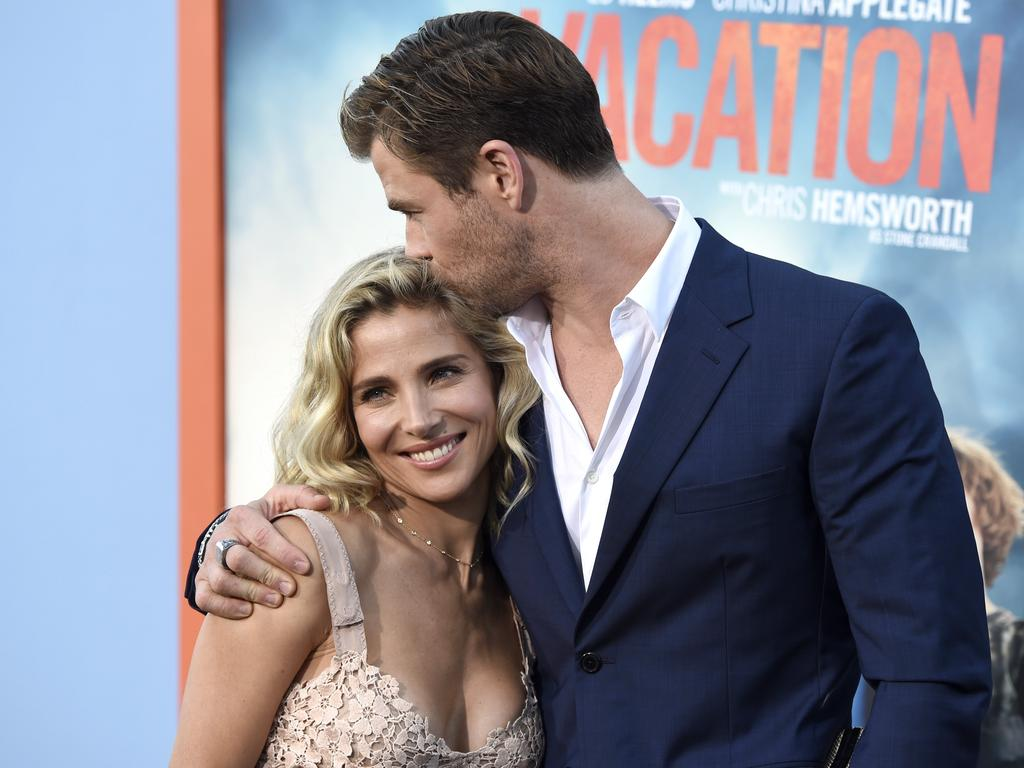 Elsa Pataky, left, and Chris Hemsworth arrive at the Los Angeles premiere of \\