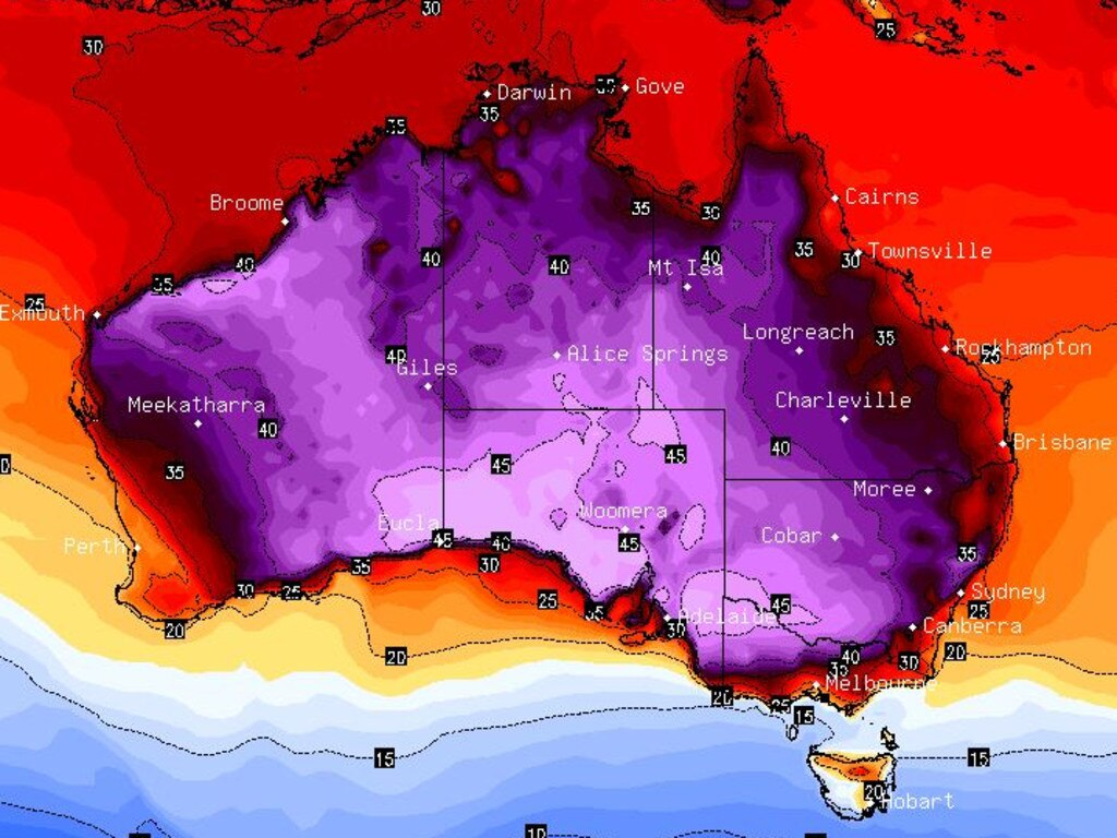"The BOM has said that ""maximums across the board will be exceptional"" for this time of year."