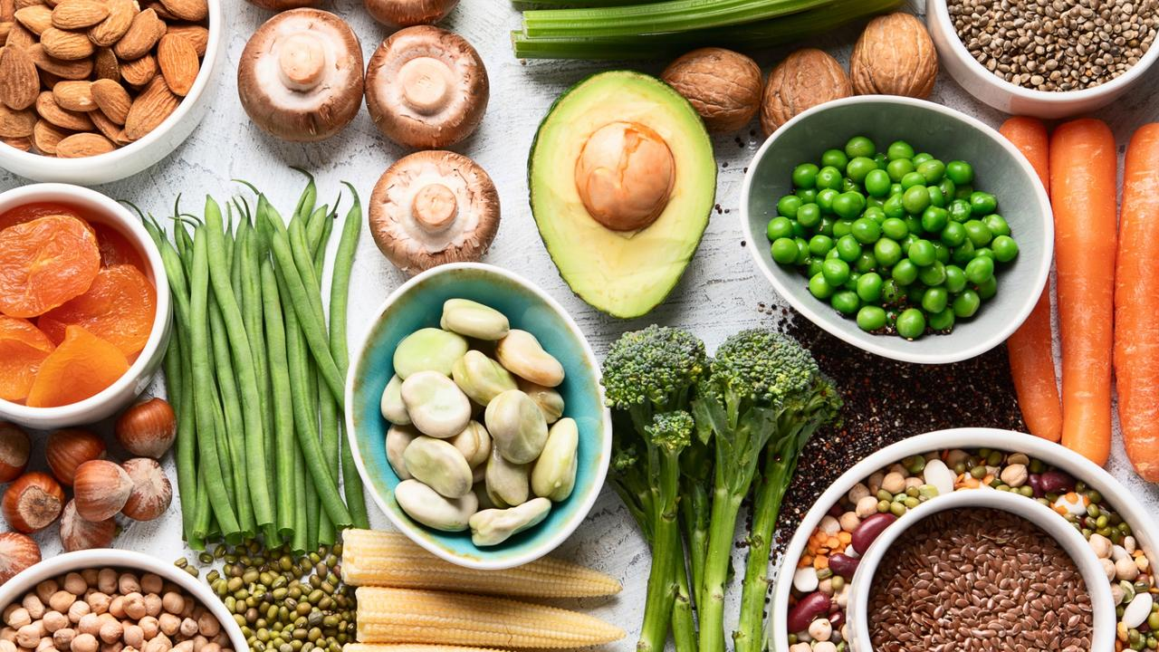 According to accredited dietitians the vegan diet involves plant based food groups like fruit and vegetables, bread, cereals, and grains, legumes, and soy food. Picture: supplied. News Corp Australia