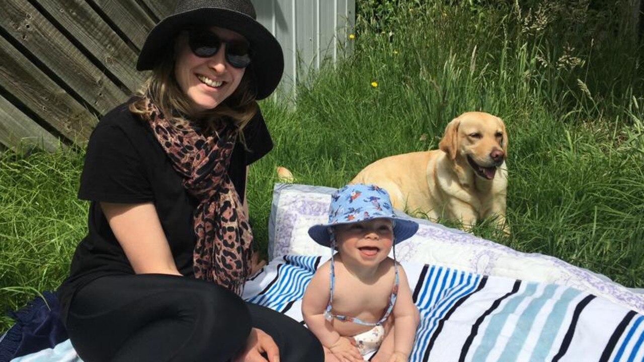 Sarah and baby Austin.