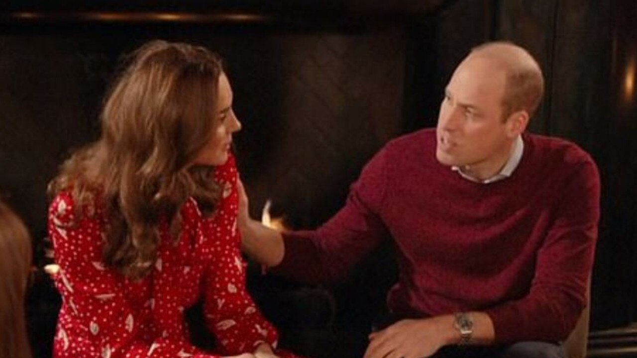 Kate Middleton and Prince William had a bit of an awkward moment during a UK TV Christmas special. Picture: BBC