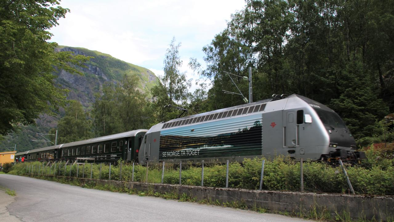 The Flam Railway train returns to Myrdal. Picture: Shirley Sinclair