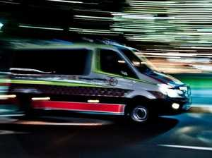Serious injuries following truck and car collision