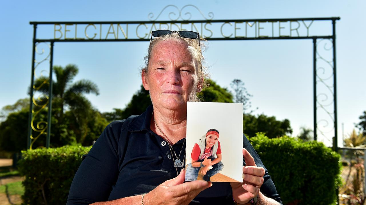 Julie Baker has been told by Belgian Gardens Cemetery to restrict the Christmas decorations on her daughter Kodah Lampton's grave.