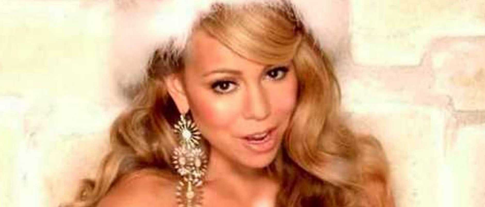 A scene from Mariah Carey's All I Want for Christmas is You music video.