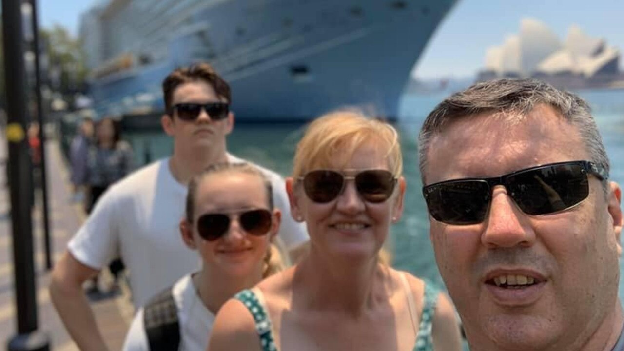 The Langford family set off on a cruise to celebrate a birthday. Picture: Facebook