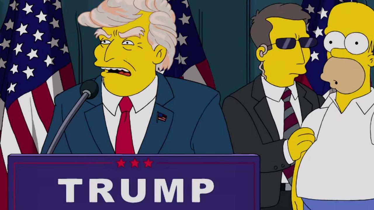 Donald Trump becomes president of the USA in a 2000 episode. Picture: Supplied