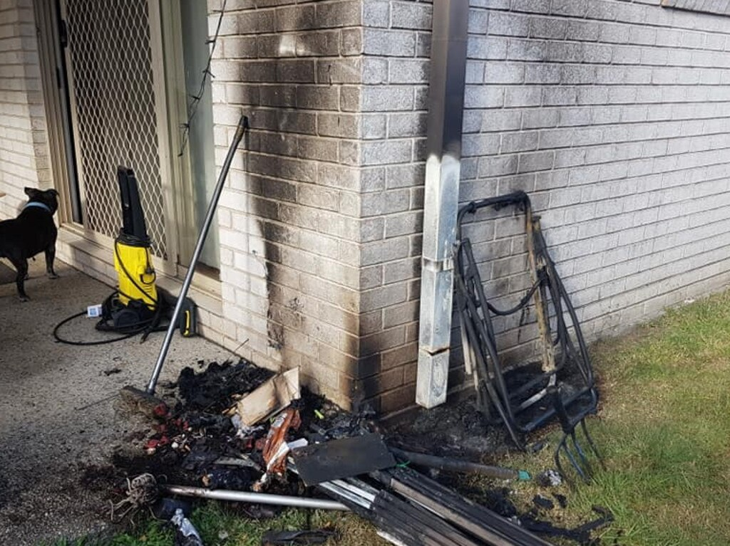Karen Denduck said her home was damaged by exploding solar-powered lights which she bought from Kmart. Picture: Karen Denduck/Facebook