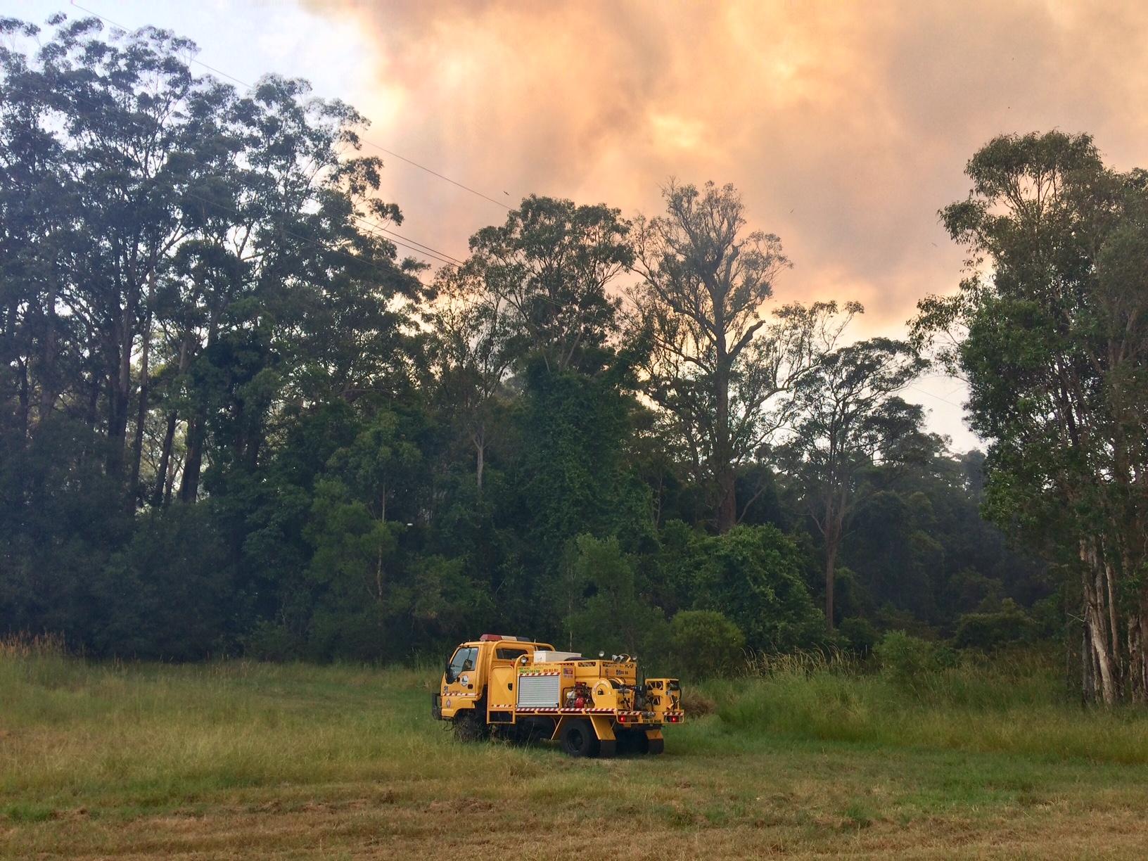Crews are still battling the Peregian Springs bushfire this morning.