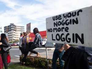 Calls to halt logging until fire threat eases