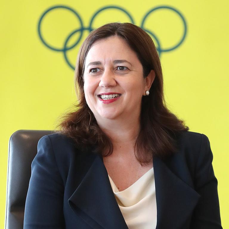 Premier Annastacia Palaszczuk formally announced southeast Queensland's Olympic bid.