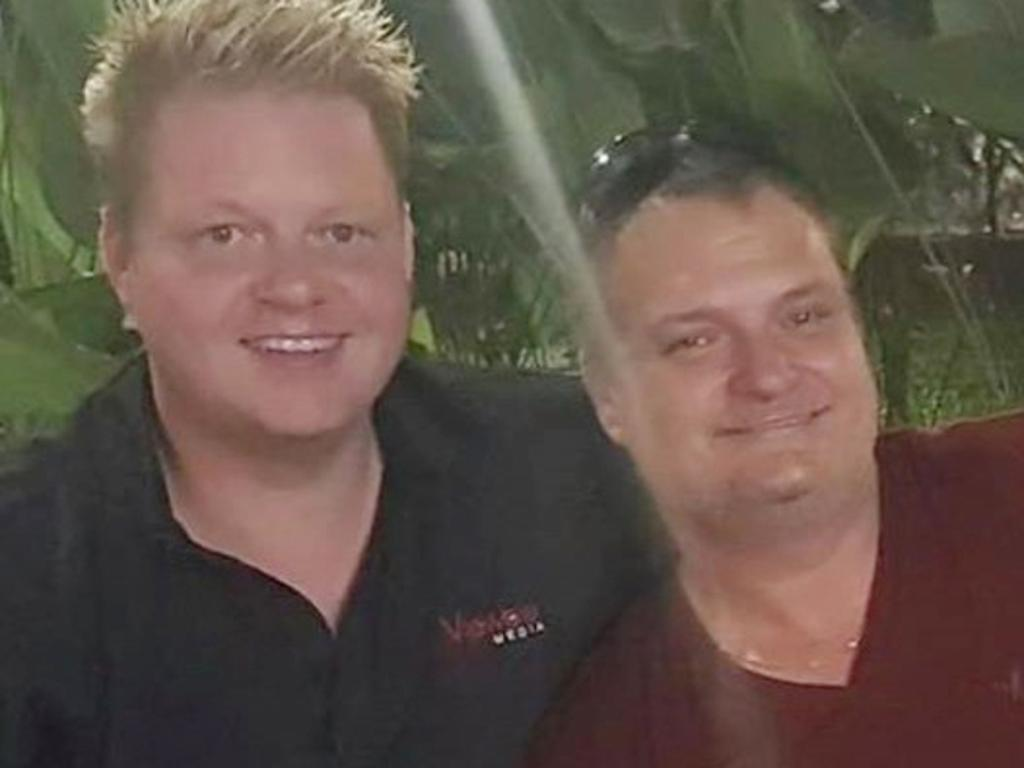 Former Viewble Media directors David Reid (left) and Jason Madden. Picture: Facebook