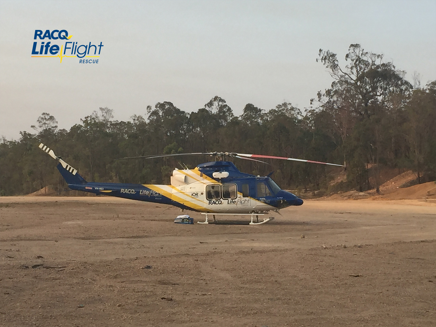 A man in his 40s has been airlifted from west of Hervey Bay after a motorbike accident on a dirt track.