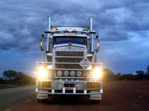 Truckie driving triple road train suffers heart attack