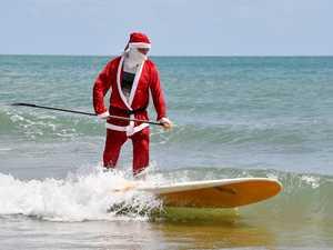 Santa visits Eimeo Beach