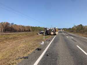 UPDATE: Man, 69, dies after Bruce Highway truck crash