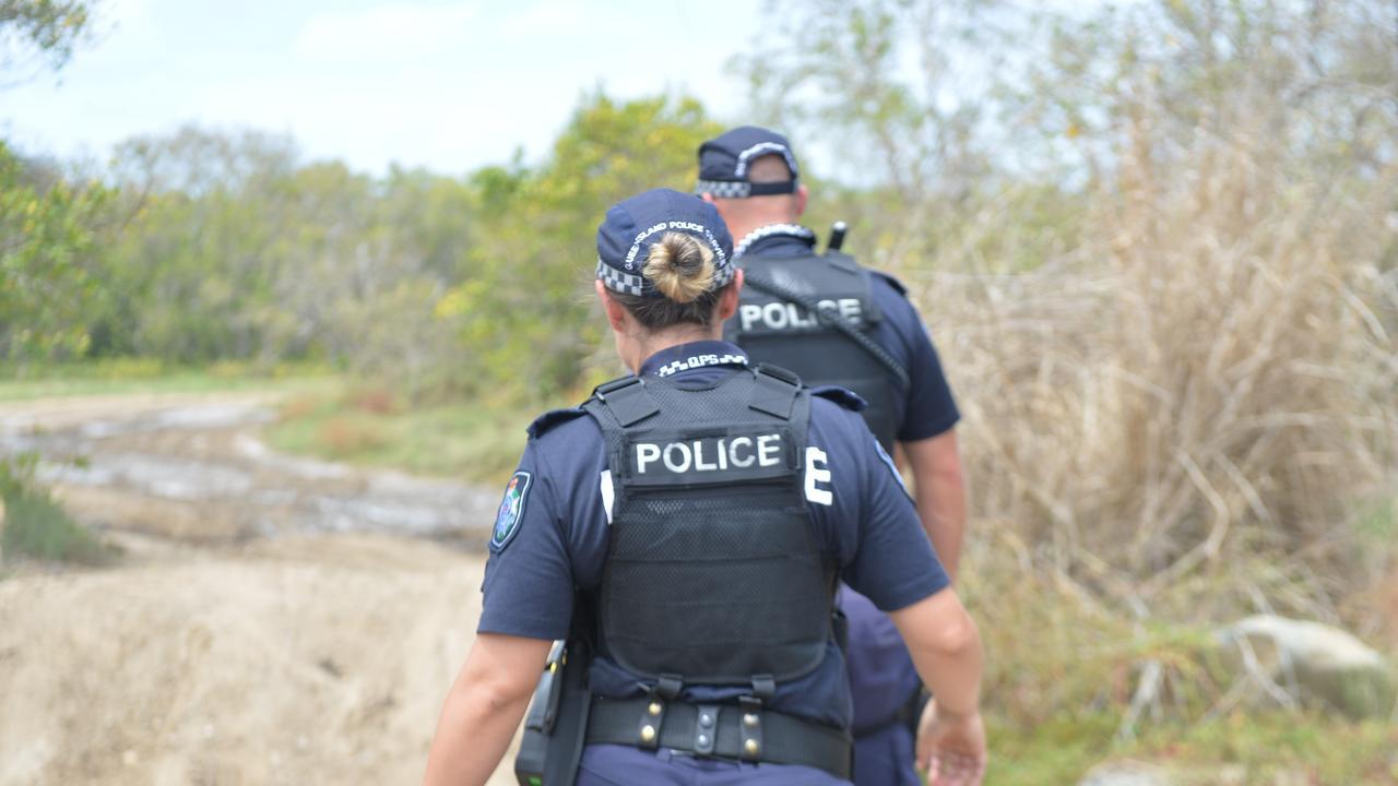 Police search bushland areas.
