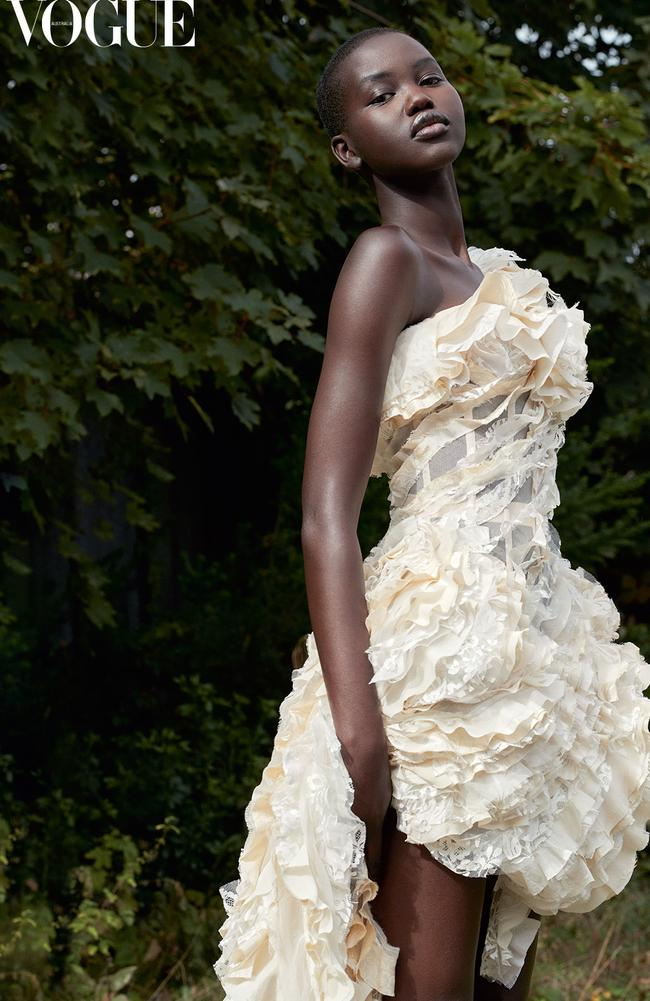 Adut Akech for Vogue Australia January issue. Photo: Vogue Australia