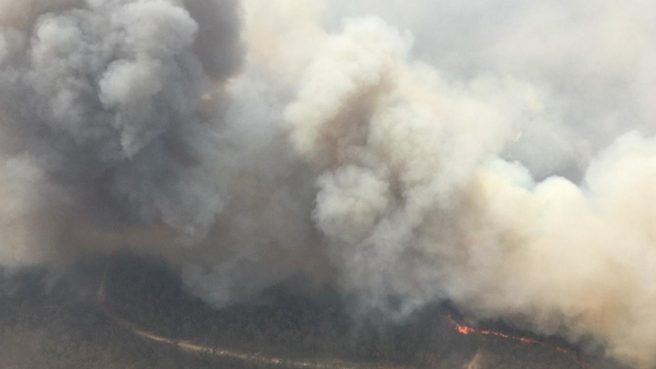 BANGALA CREEK: The Rural Fire Service said firefighters on the ground are being supported by aviation crews at the Bangala Creek fire which expected to be impacted by severe weather conditions on Saturday December 21, 2019. .