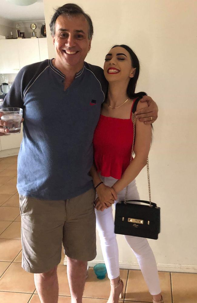 Springfield murder victim David Murphy with his daughter Julia.