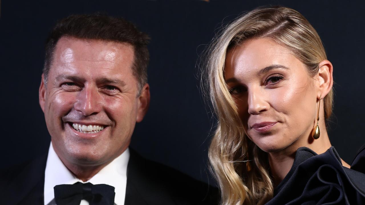 Karl Stefanovic and wife Jasmine. Picture: Getty Images