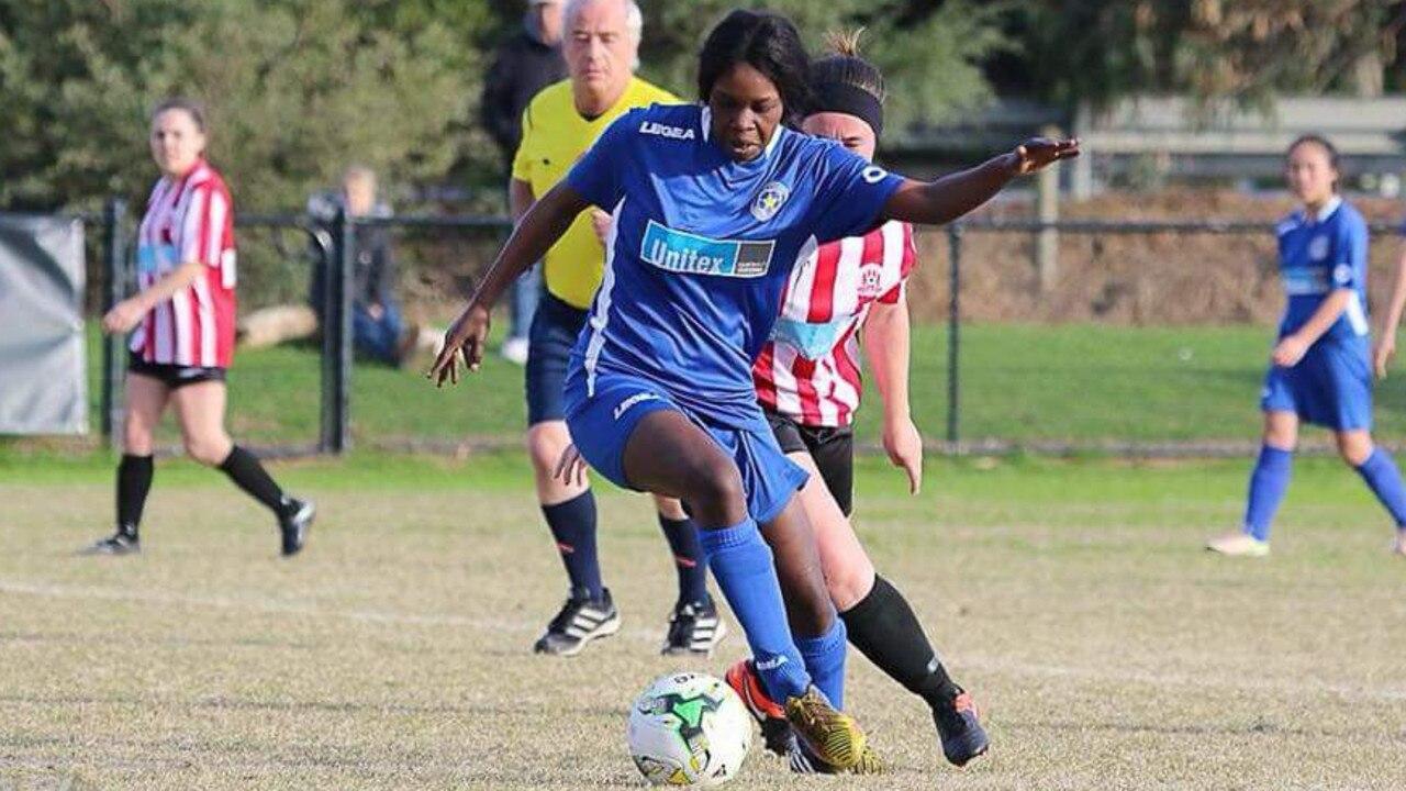 Laa Chol playing for her team Skye United.
