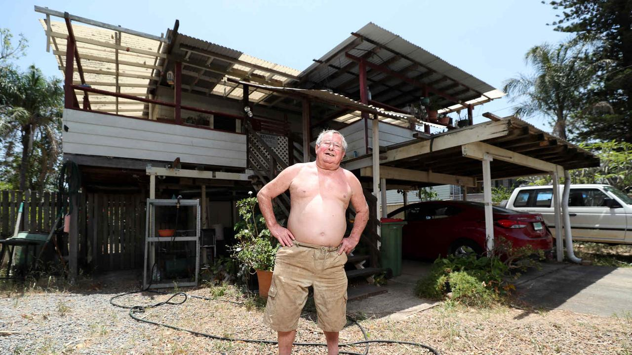 Enid Street, Goodna resident Frank Beaumont who is happy with the flood inquiry judgment. Pic Peter Wallis