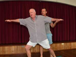 Blokes' yoga classes lift Dave out of the dumps