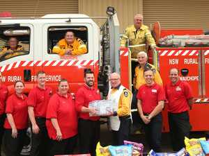 Volunteer fireys given $3m supermarket gift card boost
