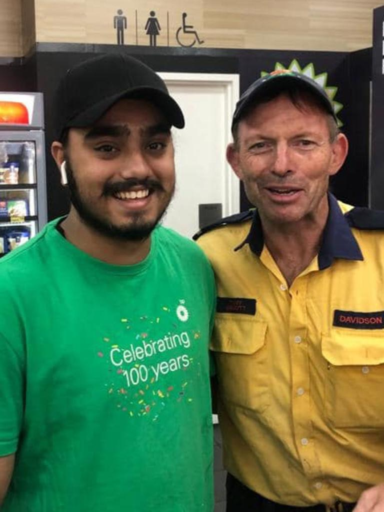 Mr Abbott with an employee at BP Bargo. Picture: Facebook