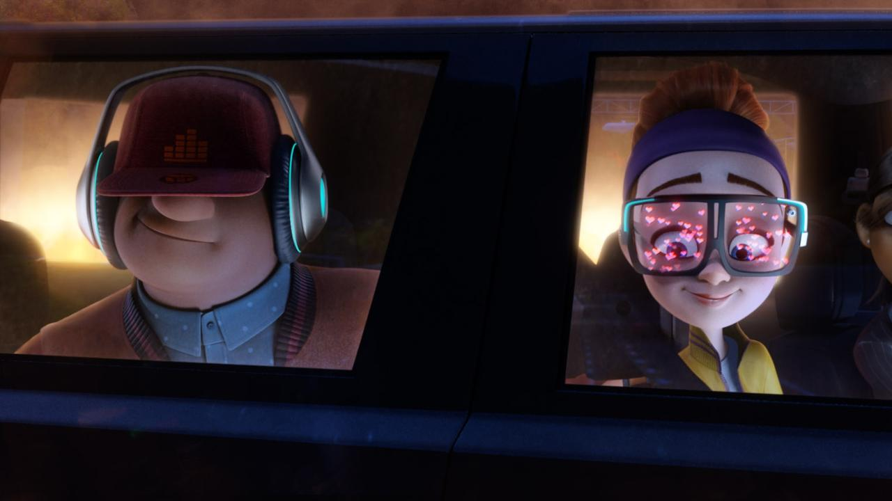 Ears (voiced by DJ Khaled), Eyes (voiced by Karen Gillan) and Marcy (voiced by Rashida Jones) in a scene from the movie Spies in Disguise. Supplied by 20th Century Fox