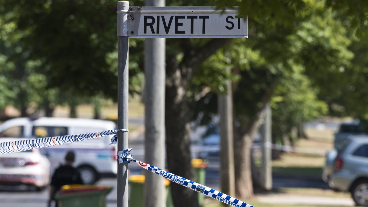Police and fire investigators at a South Toowoomba crime scene following a fatal house fire in Rivett St, Monday, December 16, 2019. Picture: Kevin Farmer