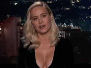 'Epic cleavage!' Captain Marvel stuns in amazing dress
