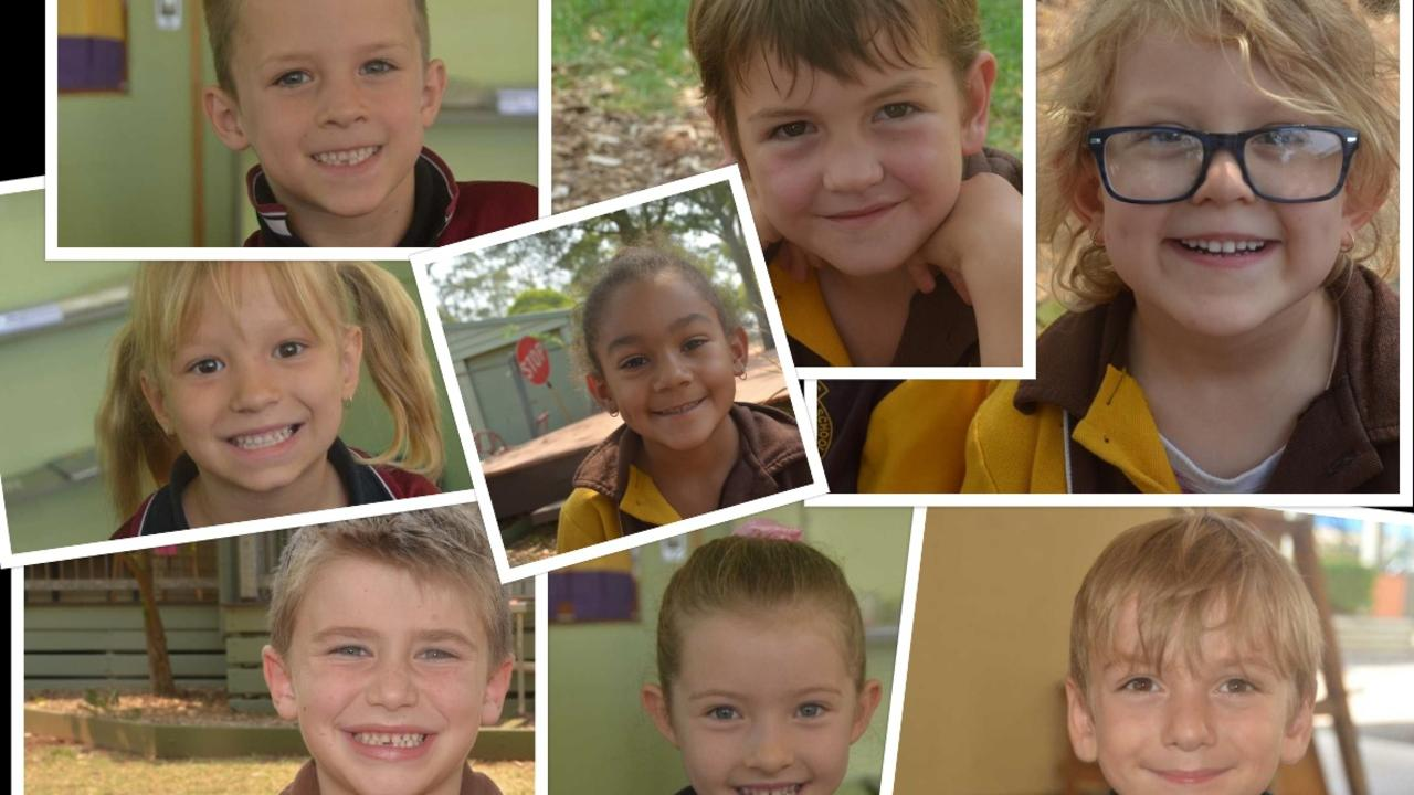 TOO CUTE: Preppies from St Johns and Taabinga State School share 'what they learned ' in their first year of school. (Photo: Madeline Grace)