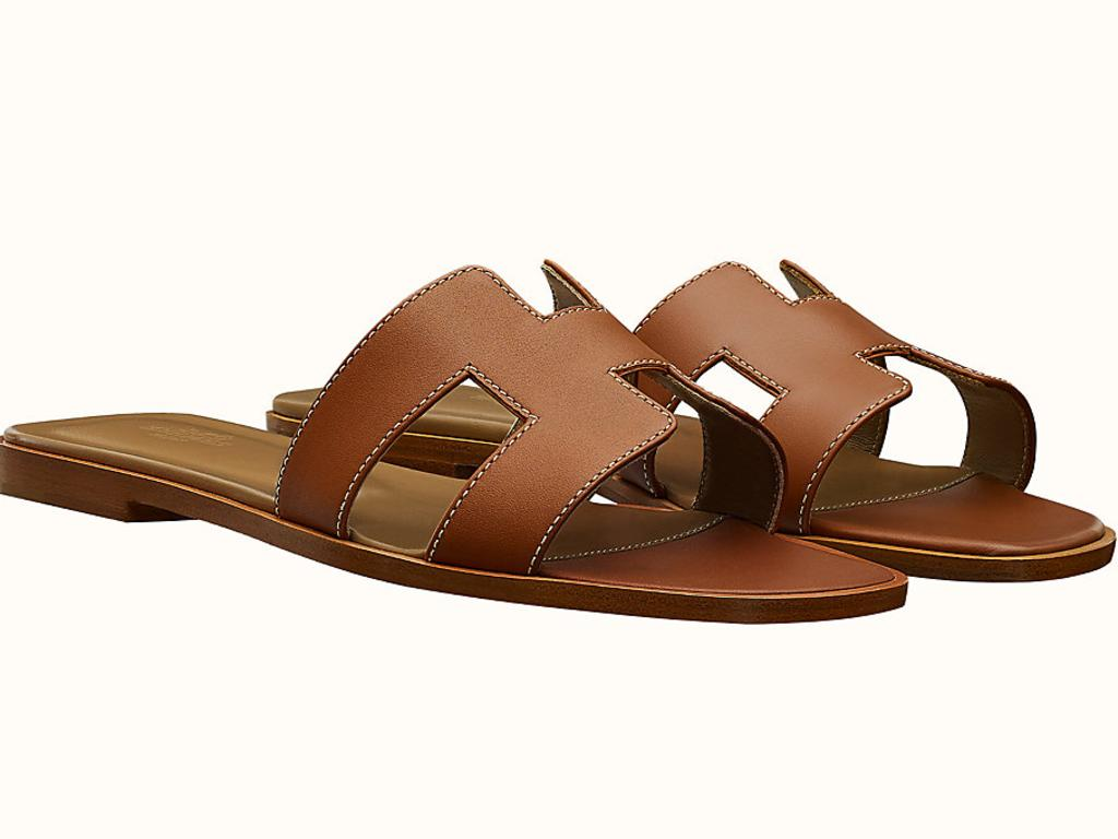 The Hermes slides are the ultimate summer shoe; however, their $970 price tag might be tricky to justify. Picture: Supplied