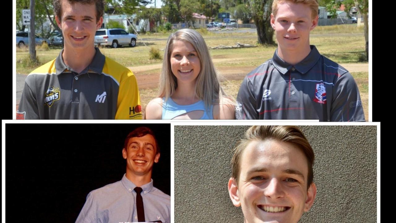South Burnett's top OP scorers: Francis Hobbs, Jessica Ryan, Patrick Hoult, Matthew Early and Jude Davis. (Photos: Madeline Grace)
