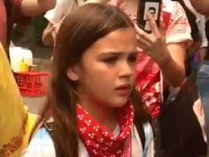 'How dare you': Protesting girl blasts PM