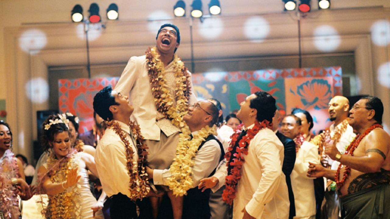 Pua Magasiva in scene from film Sione's Wedding.