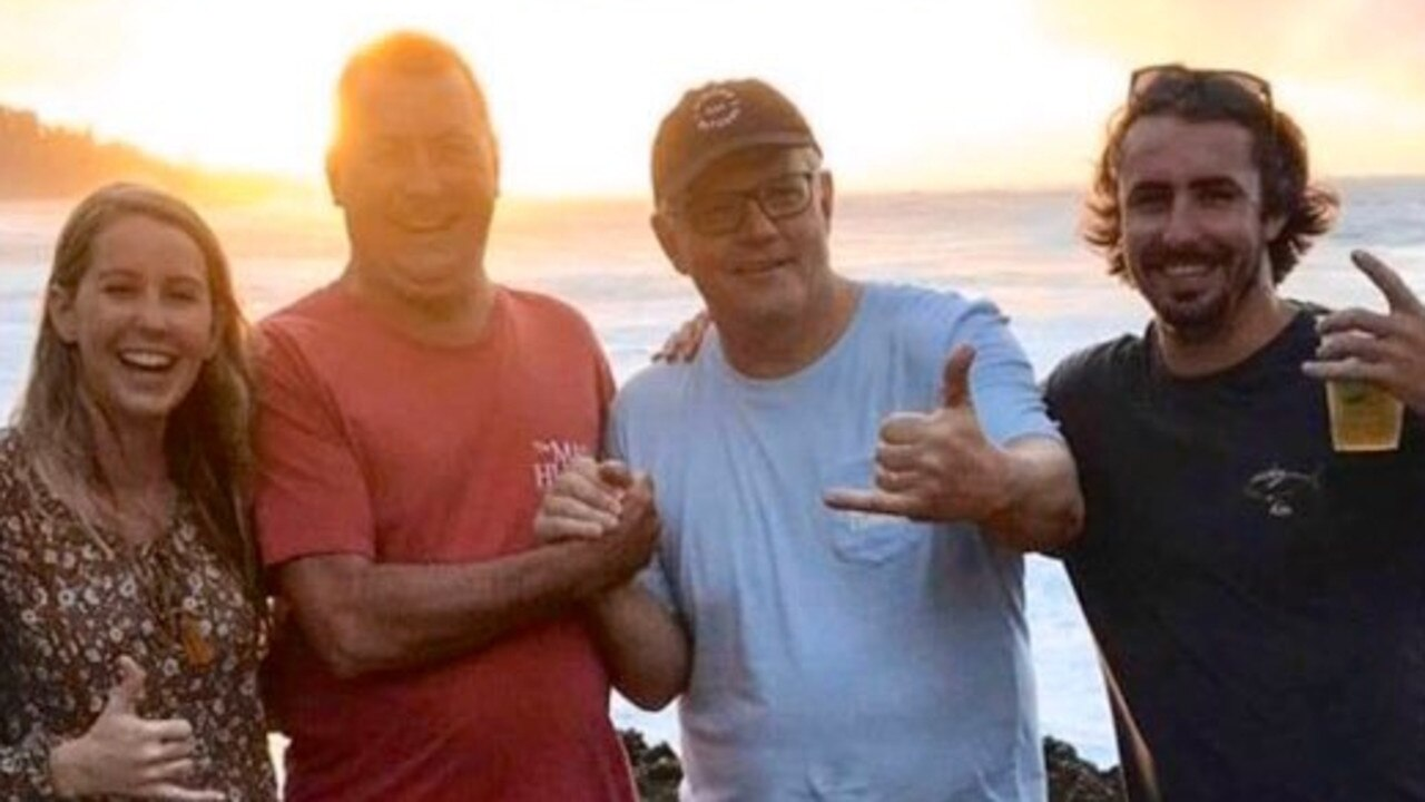 Scott Morrison was photographed during what is believed to be his holiday in Hawaii, while bushfires burn across NSW. Picture: supplied