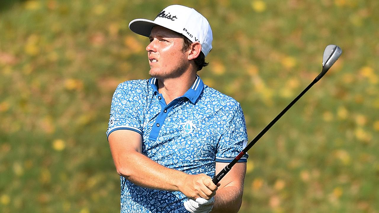 Cameron Smith remains in the mix for a third straight win at the Australian PGA. Picture: AAP