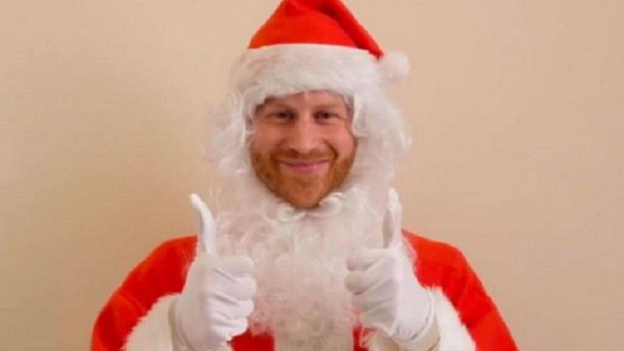 Prince Harry has dressed up as Santa Claus