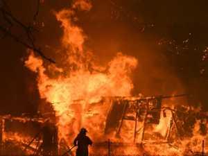 Horror night for fireys as blazes merge