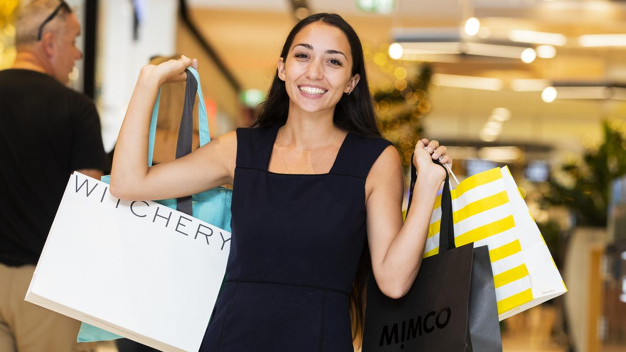 SHOPPING BONANZA: Thousands of people hit the shops this weekend in the last days before Christmas. Photo: Lachie Millard