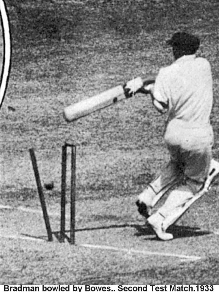 Bradman was bowled in four of his seven innings during the Bodyline series.