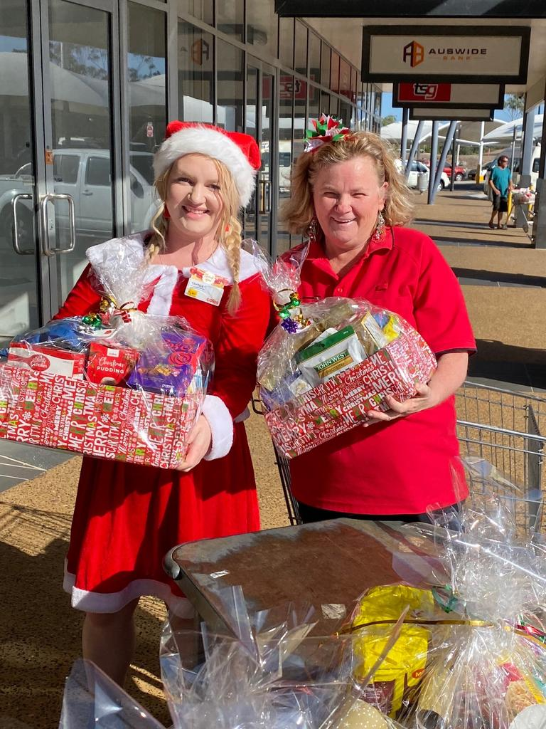 Tahnee Clare and Lisa Kenney have donated 18 hampers to Roseberry Qld.